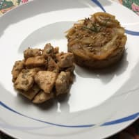 Diced chicken with rosemary and fennel roasted
