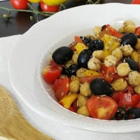 baked chickpea salad
