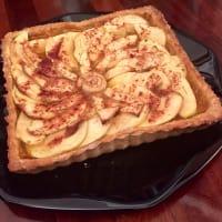 tarta de manzana sin grasa