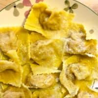 Tortelli di zucca alla parmigiana step 7
