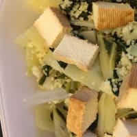 Cous cous integrale con bietole e tofu