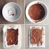 Caramelo, suave y cremosa vegetariana paso 5