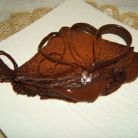 crepes de chocolate vegetariana con crema de chocolate extrafondente