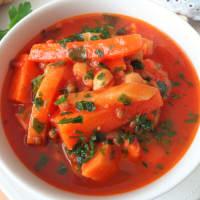 sopa de invierno con lentejas y garbanzos