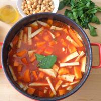 sopa de invierno con lentejas y garbanzos paso 3