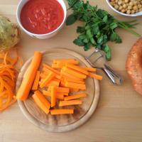 sopa de invierno con lentejas y garbanzos paso 2
