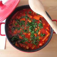 sopa de invierno con lentejas y garbanzos paso 4