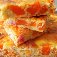Frittata with baked pumpkin