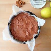 pastel de chocolate y manzanas paso 4