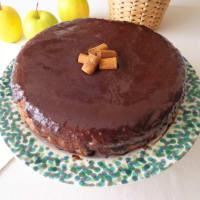 pastel de chocolate y manzanas paso 7