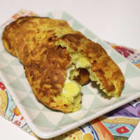 patatas Hamburguesa con queso derretido