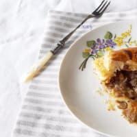 Torta salata ai gambi di carciofo e noci