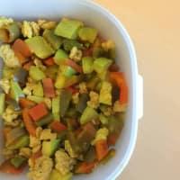 Straccetti di soia al curry con verdure
