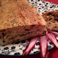 Plumcake fluffy with ricotta and radicchio