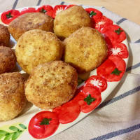 Albóndigas con los garbanzos y el brócoli romana