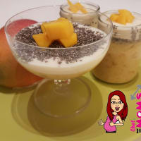 mango pudding and chia seeds