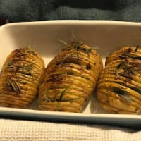Hasselback potatoes step 1