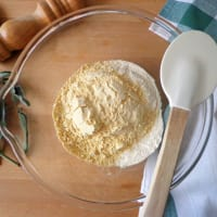 gnocchi de garbanzos con mantequilla y salvia paso 1