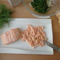 Buñuelos de salmón paso 1