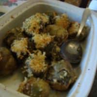 alcachofas rellenas al horno paso 4