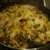 Paella de marisco y pollo paso 5
