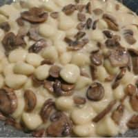 Gorgonzola gnocchi y champiñones paso 6