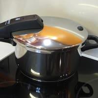 La polenta en una olla a presión paso 3