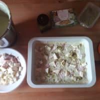 Lasaña con pesto de pistacho y el tocino paso 2