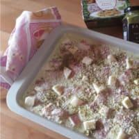 Lasaña con pesto de pistacho y el tocino paso 4