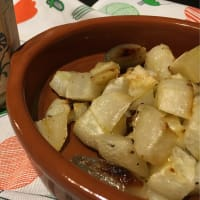 Turnips roasted with honey