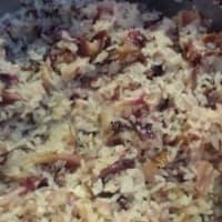 Risotto al radicchio rosso, camembert e noci step 4