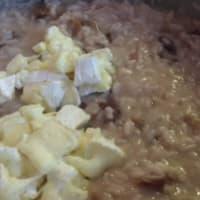 Risotto con radicchio rojo, camembert y nueces paso 7