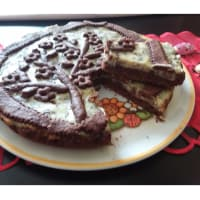 Ricotta y chocolate tarta con base de cacao