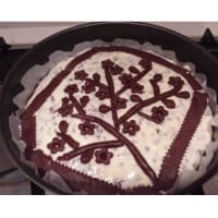 Ricotta y chocolate tarta con base de cacao paso 4