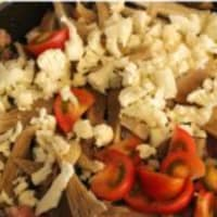 Rigatoni con la coliflor, salchichas y setas paso 4