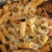 Rigatoni con la coliflor, salchichas y setas paso 7