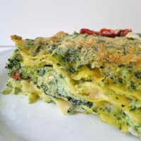 Lasagna with ricotta and black cabbage