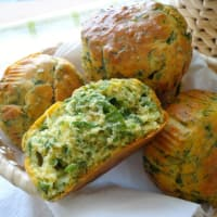 Savory muffins with spinach