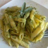 Pesto pasta sage