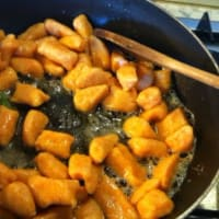 Potato gnocchi and pumpkin step 10