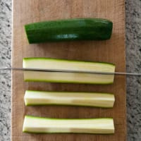 Calabacín cocido al horno con queso parmesano paso 2