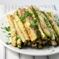 Zucchine al forno con parmigiano