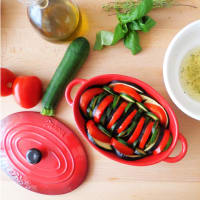 Baked vegetables with aromatherapy oil allaglio step 3