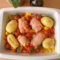 rollos de pollo con verduras paso 4