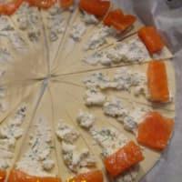 Piccoli croissant al salmone marinato step 4