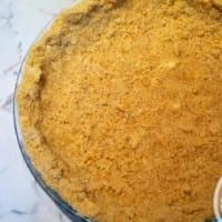 Pastel de crema se desmoronan y nutella paso 9