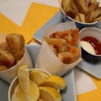 nuggets de pescado y patatas fritas