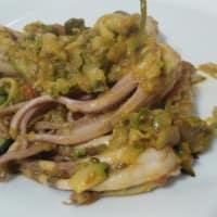 Moscardini con zucchine e capperi