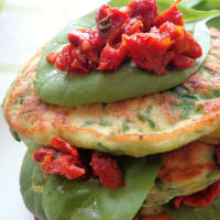 Pancake with spinach, prosciutto and ricotta step 4