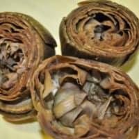 Violetas al horno alcachofas rellenas paso 1